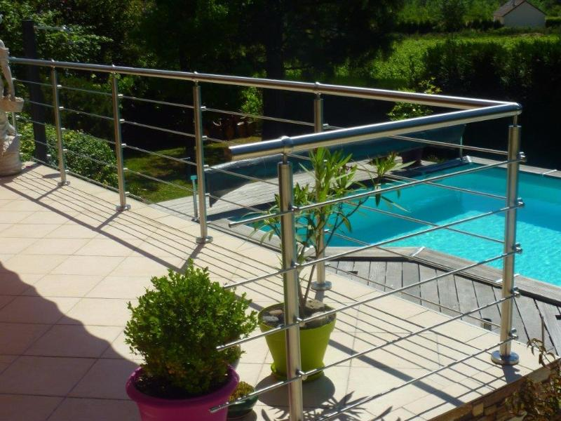 Poteaux inox 304 garde corps balustrade barri rre terrasse for Barriere inox exterieur